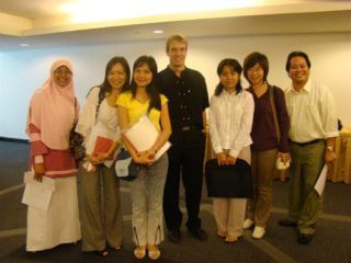 With a group of MA students in Singapore